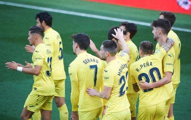 El Villarreal celebra su goleada ante el Celta de Vigo