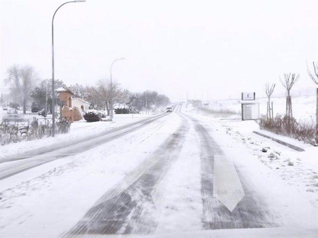 Filomena' afecta ya a más de 6.000 kilómetros de la red de Carreteras de C-LM.