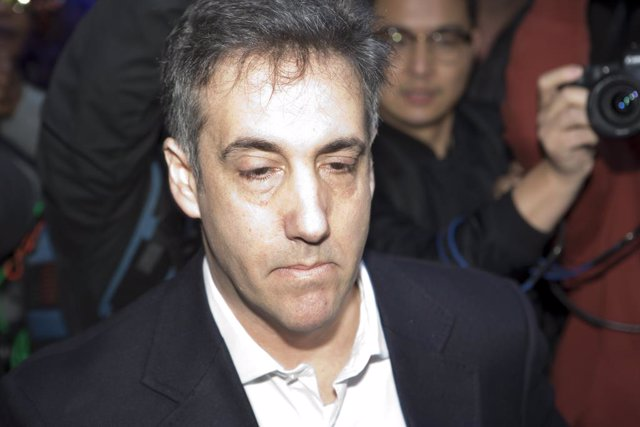 May 6, 2019 - New York, New York, United States: Michael Cohen exits his Park Avenue apartment building on his way for his first day of prison. Cohen, the former personal attorney to President Donald Trump, executive vice president of the Trump Organizati