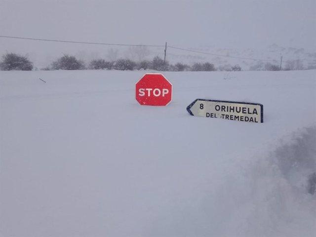 Nieve en la provincia de Teruel.