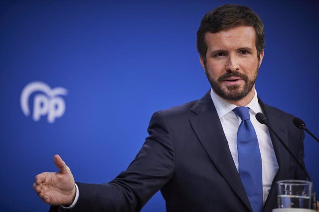 El presidente del Partido Popular (PP) Pablo Casado