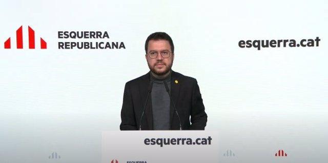 El candidat d'ERC a les eleccions catalanes del 14 de febrer, Pere Aragonès