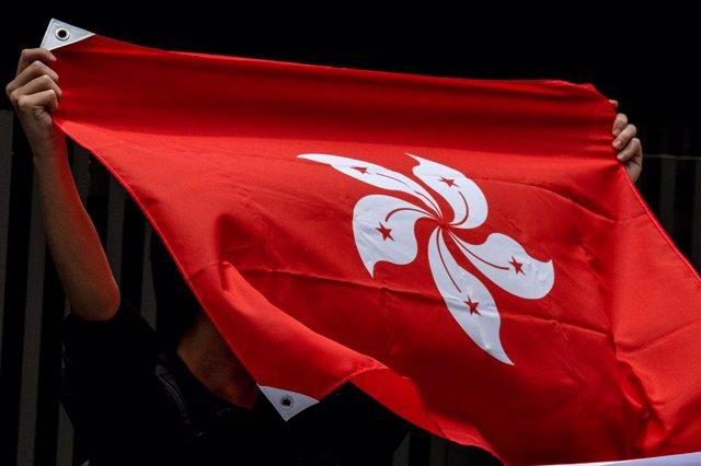 Imagen de archivo de al bandera de Hong Kong