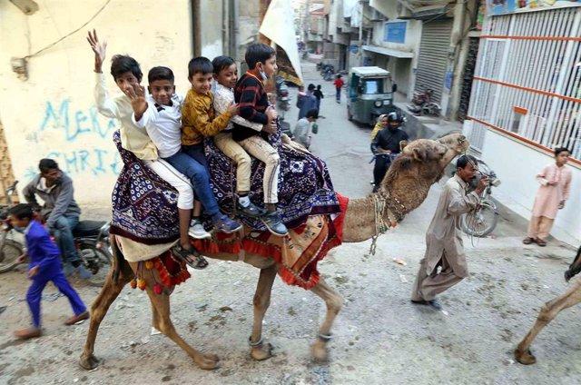 Niños cristianos en Karachi, Pakistán