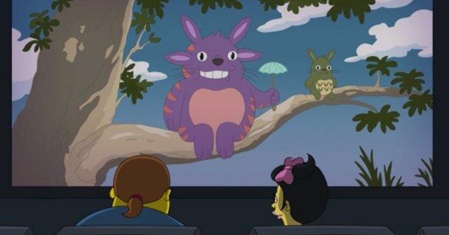 Los Simpson rinde tributo a Mi vecino Totoro, la obra maestra de Hayao Miyazaki