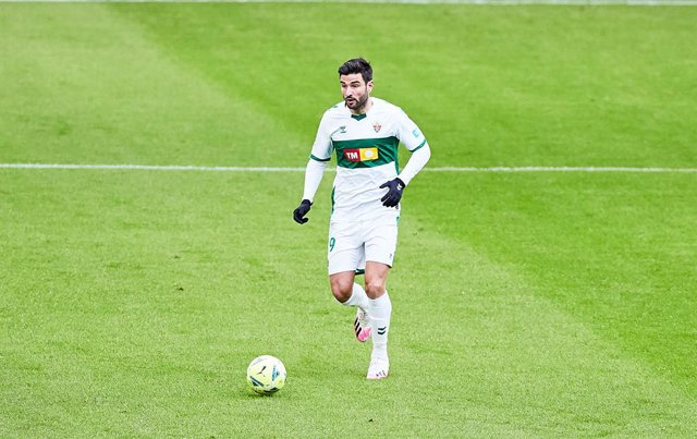 Antonio Barragan of Elche during the Spanish league, La Liga Santander, football match played between Athletic Club and Elche CF at San Mames stadium on January 3, 2021 in Bilbao, Spain.