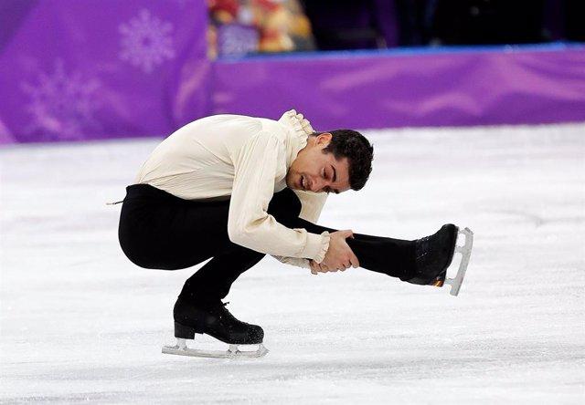 Javier Fernández en una actuació als Jocs Olímpics d'Hivern