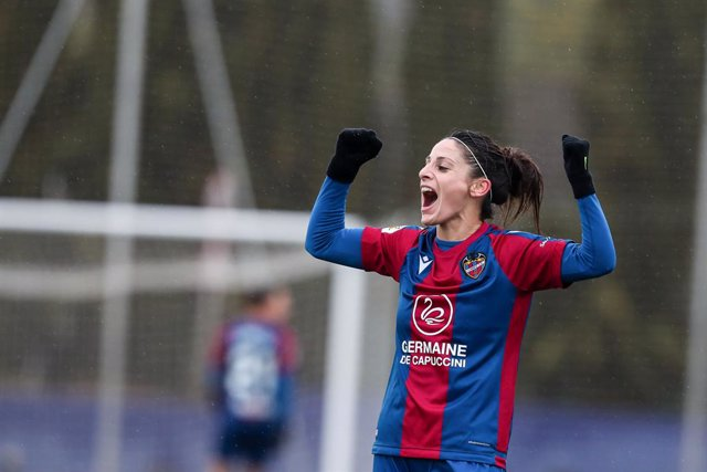 Esther Gonzalez,of Levante UD gestures during the Spanish League, Primera Iberdrola women football match played between Levante UD Vs Granadilla Tenerife at Ciudad de Levante Stadium on Januari 09, 2021, in Valencia, Spain.
