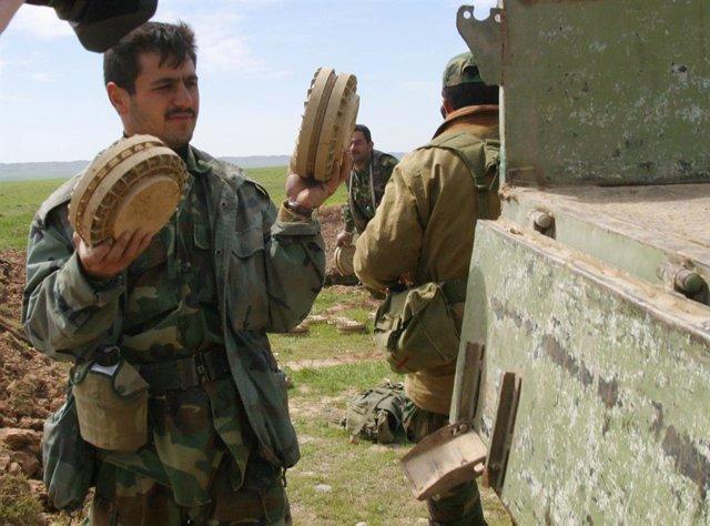 Desminado en el norte de Irak