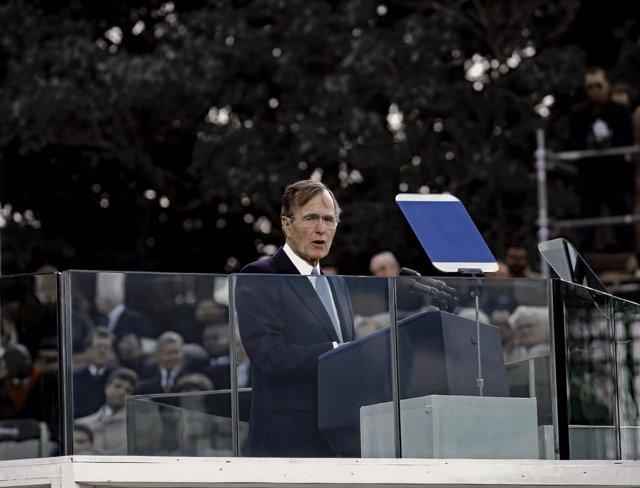 El expresidente de EEUU George H.W. Bush (1989-1993).