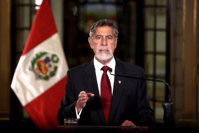 El presidente de Perú, Francisco Sagasti.