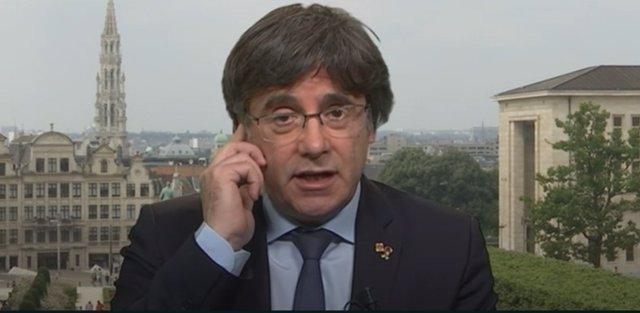 L'expresident de la Generalitat i cap de llista de JxCat a les eleccions del 14-F, Carles Puigdemont