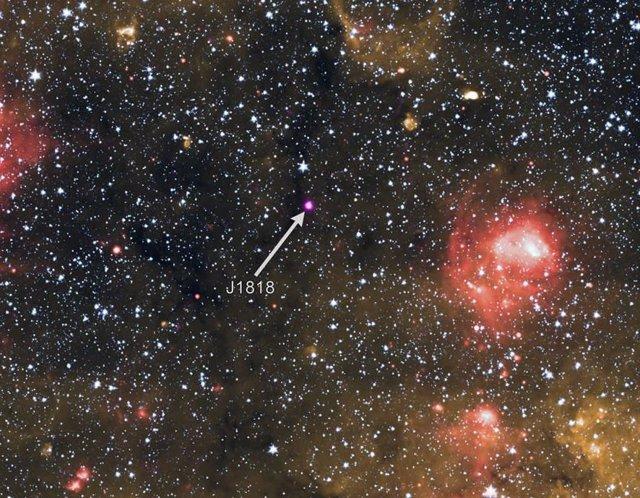 Esta imagen contiene una magnetar excepcional, un tipo de estrella de neutrones con campos magnéticos muy potentes.
