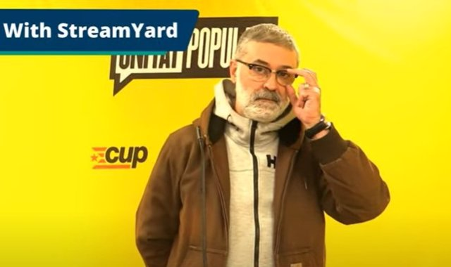 El diputat de la CUP al Parlament Carles Riera