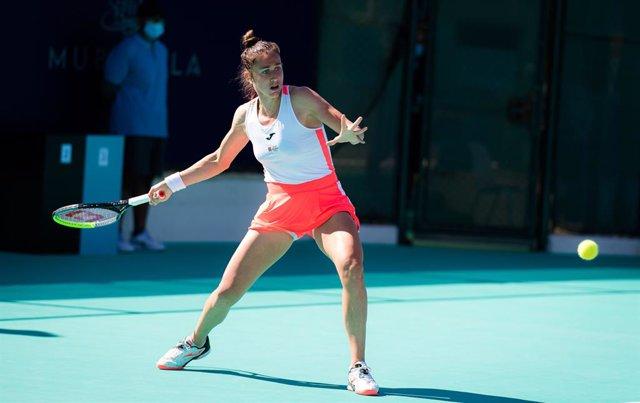 Sara Sorribes en el torneo de Abu Dabi
