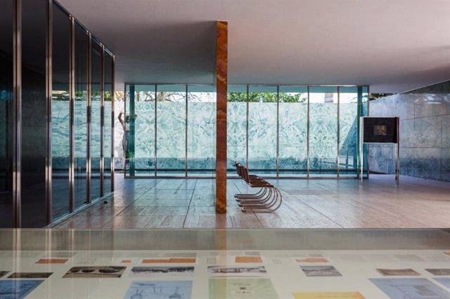 El Pavelló Mies van der Rohe de Barcelona, en una imatge d'arxiu.