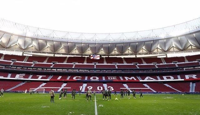 Entrenamiento del Atlético en el Wanda Metropolitano
