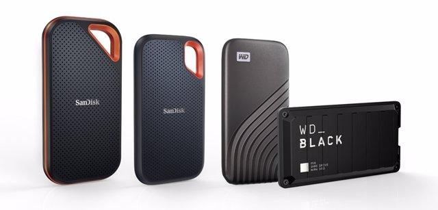 Nuevas unidades de 4TB SanDisk Extreme, WD Black y WD My Passport