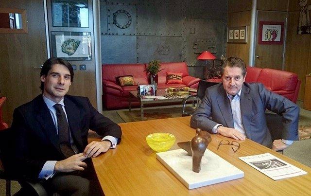 José Arribas  (Parnaso) y Miguel Ángel Sánchez (Infoadex).