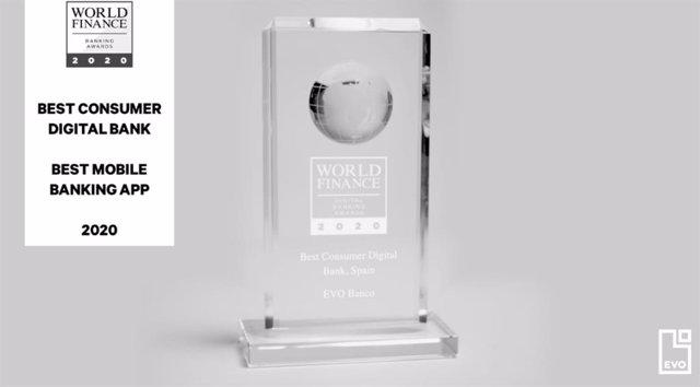 Evo Banco, elegido como mejor banco digital y app financiera en España por 'The World Finance'