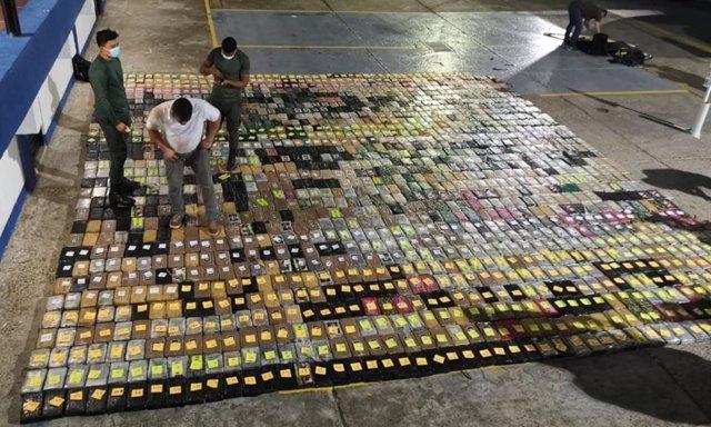 Cocanína incautada en Colombia