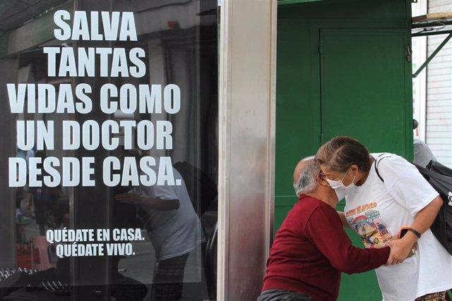 Campaña de prevención contra el coronavirus en México.
