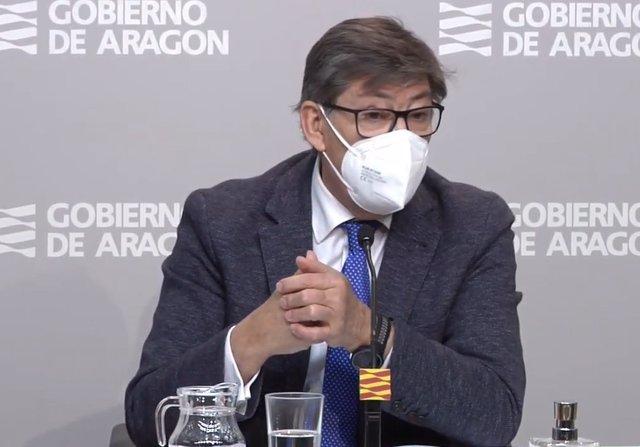 Arturo Aliaga en la rueda de prensa de este martes.