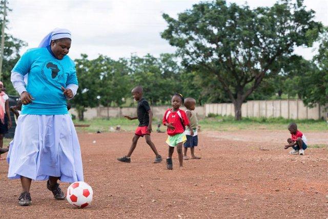 Niños del Hogar de Nazaret en Yendi (Ghana)