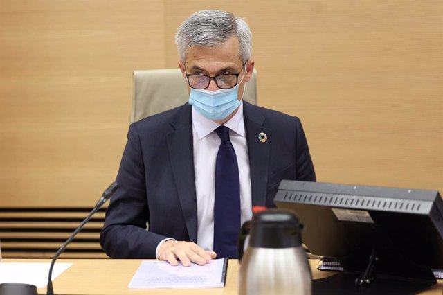 El secretario General de Agenda Urbana y Vivienda, David Lucas, comparece en comisión de Transportes, Movilidad y Agenda Urbana, en el Congreso de los Diputados, en Madrid (España), a 19 de octubre de 2020.
