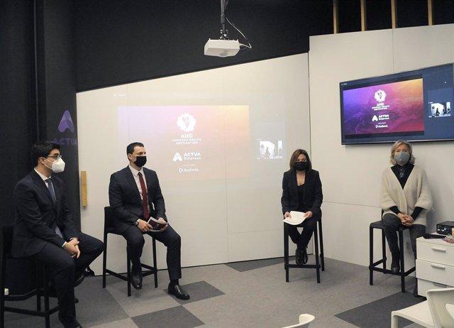 Joan Muro, Jordi Gallardo, Verònica Canals i Judit Hidalgo durant la presentació d'Andorra Health Destination.