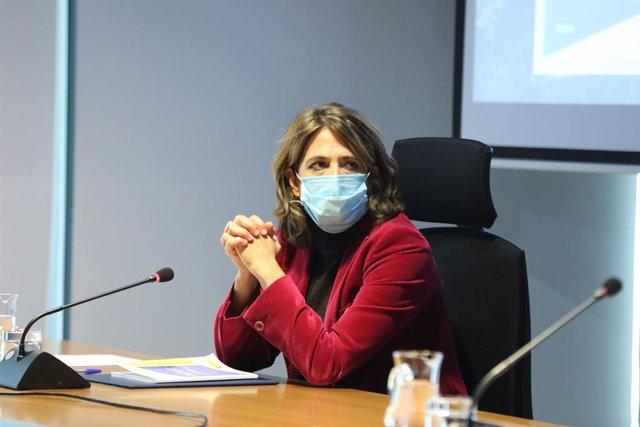 La Fiscal General del Estado, Dolores Delgado, durante el acto de presentación de la Guía para el Uso Forense del ADN.