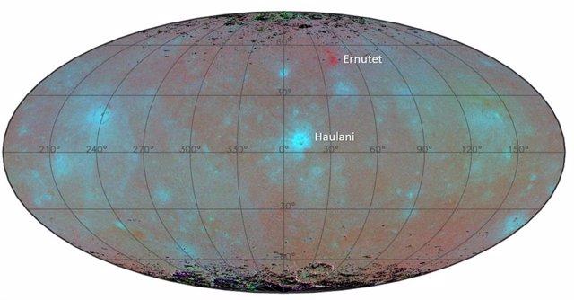 Material azul en la superficie de Ceres