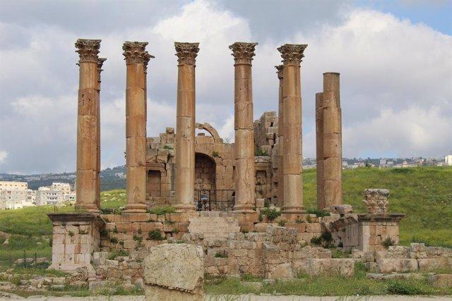 El yacimiento arqueológico de Jerash, en Jordania