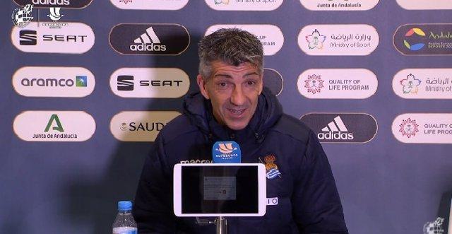 Imanol Algacuil en rueda de prensa