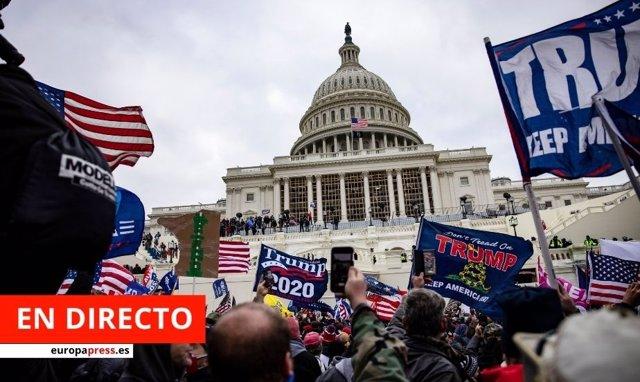 Asalto al Capitolio de manifestantes simpatizantes de Trump
