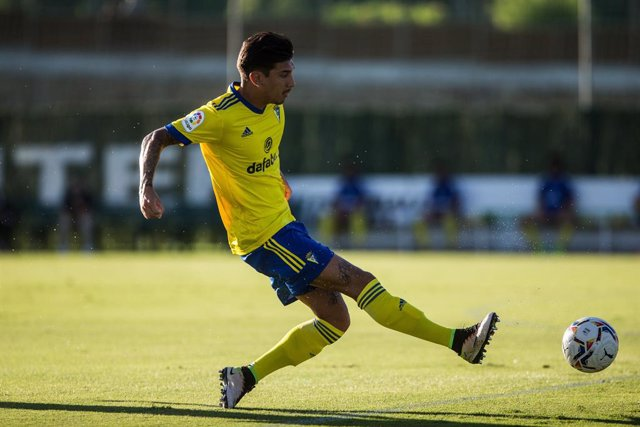 Sergio Gonzalez, of Cadiz during the friendly match between Real Betis Balompie and Cadiz Club de Futbol at Marbella Football Center on August 22, 2020 in Malaga, Spain.