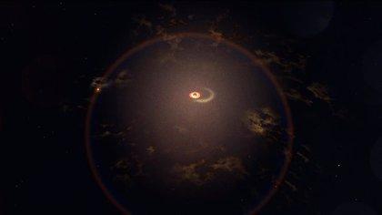 Un géiser galáctico se activa cada 114 días