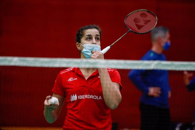 La jugadora española de bádminton Carolina Marin