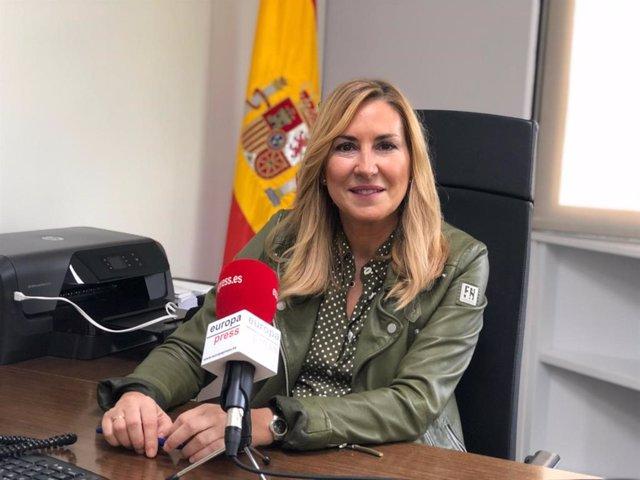 La presidenta del PP de Navarra y vicesecretaria de Organización del PP, Ana Beltrán, en una entrevista concedida a Europa Press.