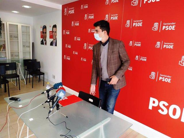 Daniel Fernández, portavoz el PSOE en el Ayuntamiento de Santander