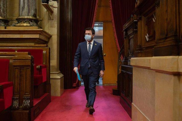 El vicepresident de la Generalitat, Pere Aragonès, en la Diputació Permanent del Parlament