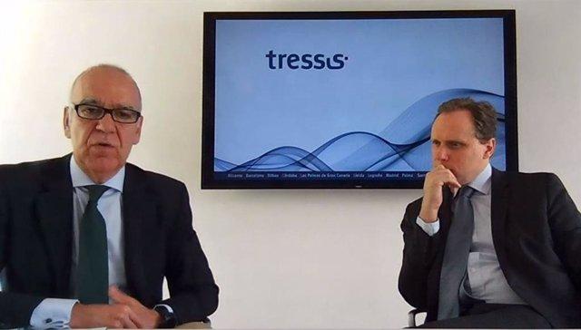 El consejero delegado de Tressis, José Miguel Maté (izquierda) y el economista jefe de Tressis, Daniel Lacalle (derecha) en una imagen de archivo.