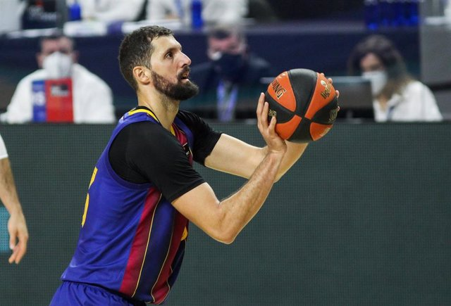 Nikola Mirotic of FC Barcelona during Liga ACB basketball match played between Real Madrid and FC Barcelona at Wizink Center on December 27, 2020 in Madrid, Spain.
