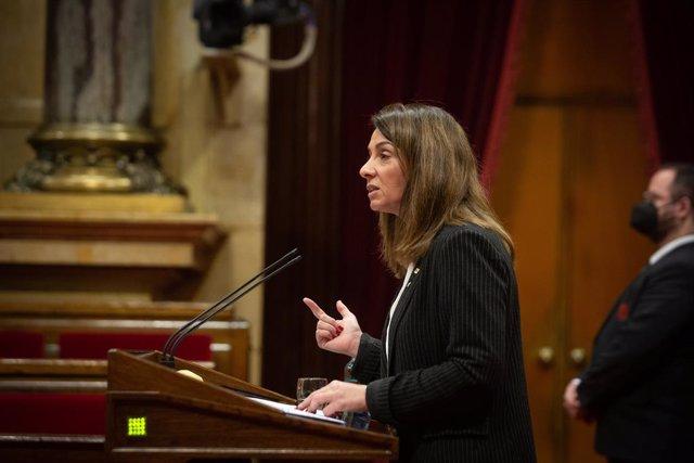 La portaveu del Govern, Meritxell Budó, en la Diputació Permanent del Parlament