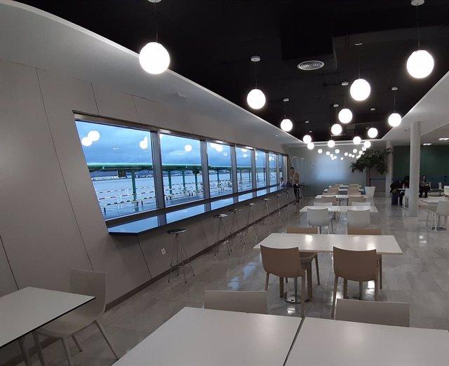 Cafetería del Aeropuerto Federico García Lorca Granada-Jaén, en una imagen de archivo