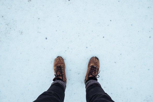 Andar en la nieve