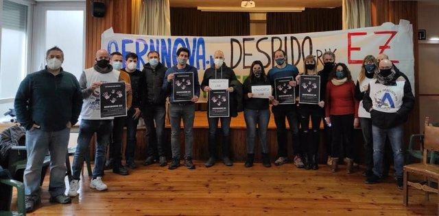 Trabajadores de Aernnova encerrados en protesta por el ERE