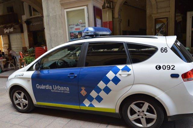Cotxe de la Guàrdia Urbana de Lleida.