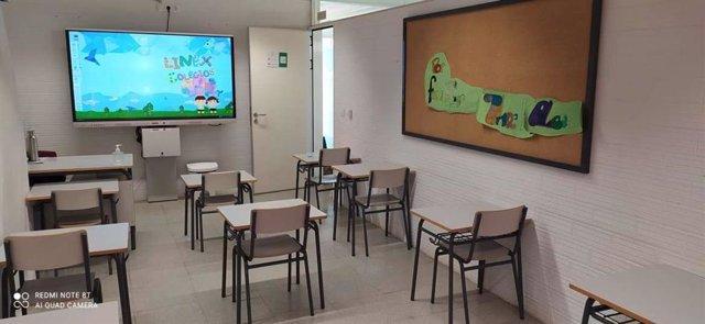 Nuevas pizarras digitales en un aula de Extremadura