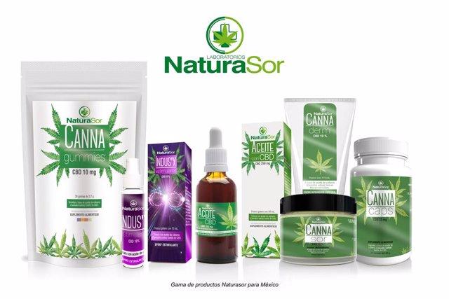 Gama de productos Naturasor para su comercialización en México.